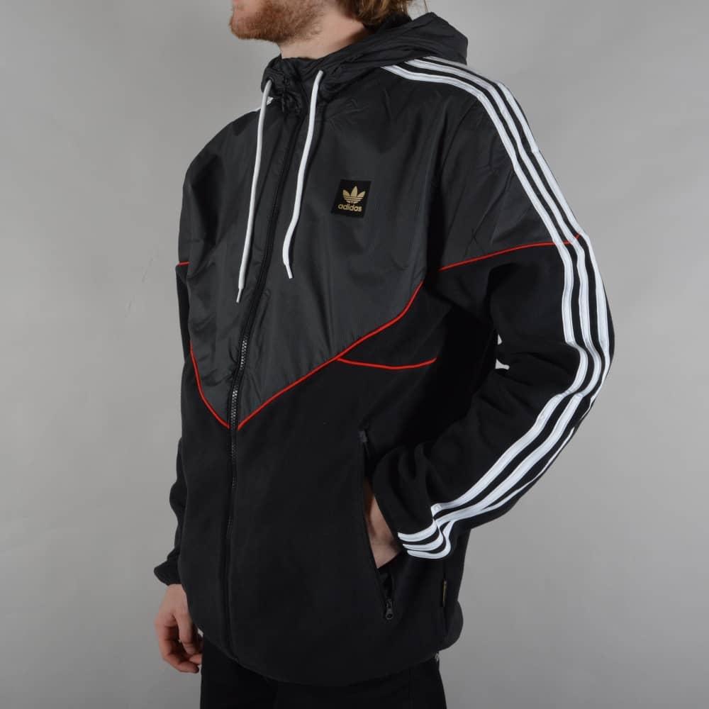 e98ca03bc Adidas Skateboarding Premiere Windbreaker Jacket - Black/Utility ...
