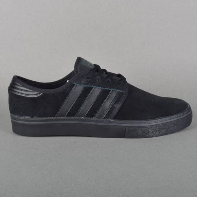 Adidas Skateboarding Seeley ADV Skate Shoes - Core Black/Core Black/Core Black
