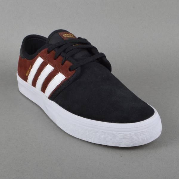 Adidas skateboard seeley avanzata pattinare scarpe buio rust / ftw bianco