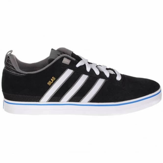 8a69034fb0 ... new zealand adidas skateboarding silas ii skate shoes black white blue  b2b0f 3c2e5