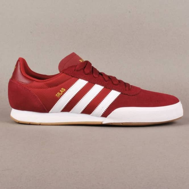 a03e25311e Adidas Skateboarding Silas SLR Skate Shoes - St Nomad Red Running  White Metallic Gold