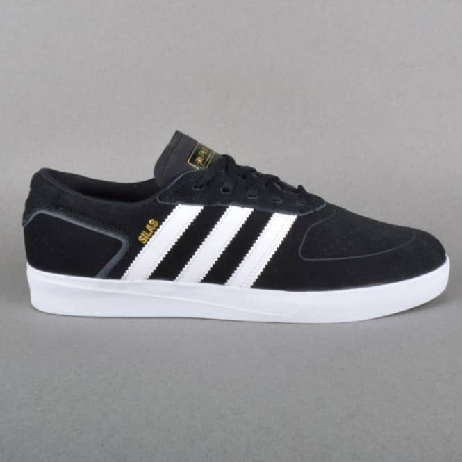 Adidas Skateboarding Silas Vulc Skate Shoes - Core Black/White/Powder Red
