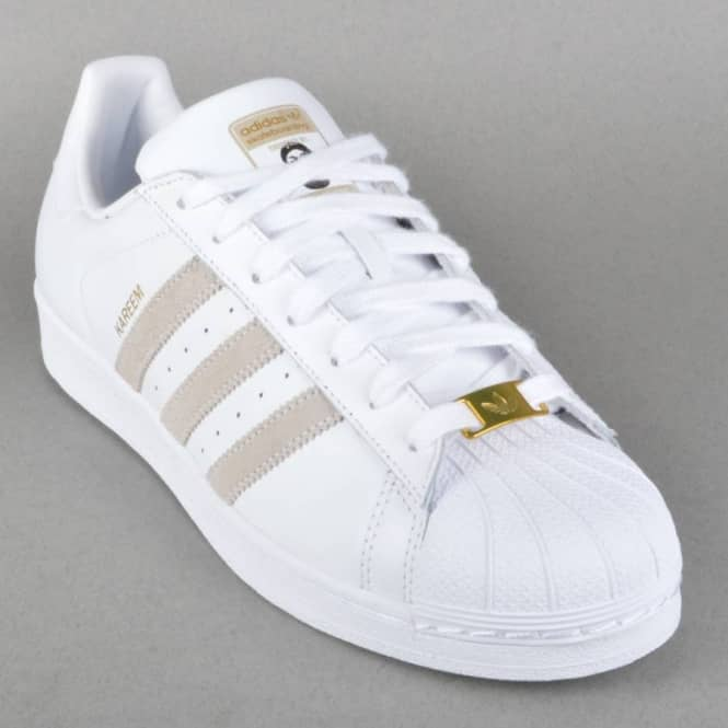 Superstar RT Kareem Campbell Skate Shoes - FTW White/FTW White/FTW White