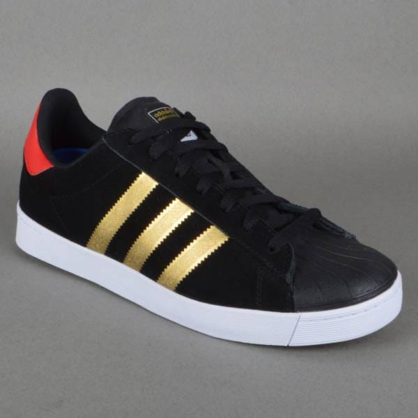 the best attitude b29f6 416f1 Superstar Vulc ADV Skate Shoes - CBLACK/GOLDMT/COLRED