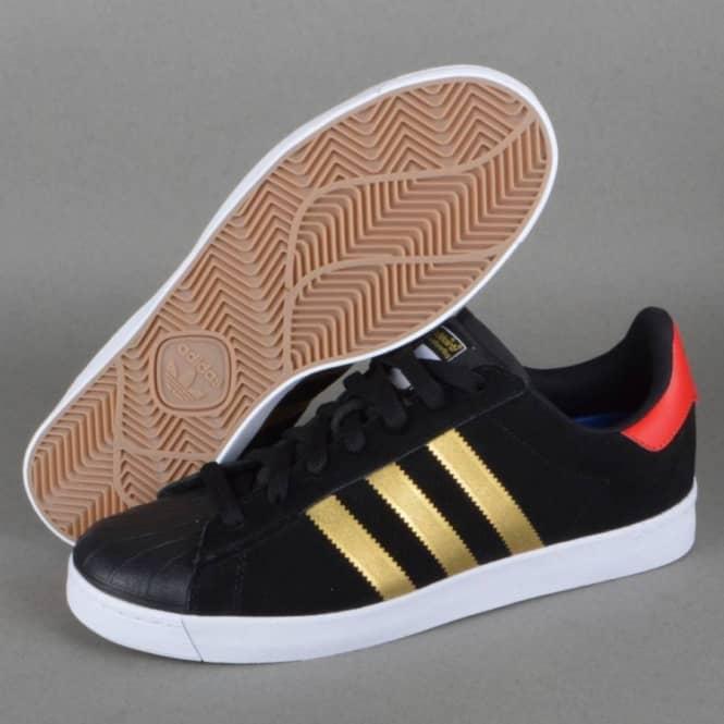 best cheap a8634 2289b Superstar Vulc ADV Skate Shoes - CBLACKGOLDMTCOLRED