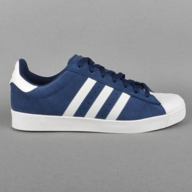 Adidas Skateboarding Superstar Vulc ADV Skate Shoes - Collegiate Navy/Core White/Collegiate Navy