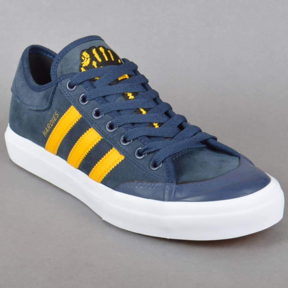 adidas X Hardies Matchcourt Shoes Navy, Yellow, White In