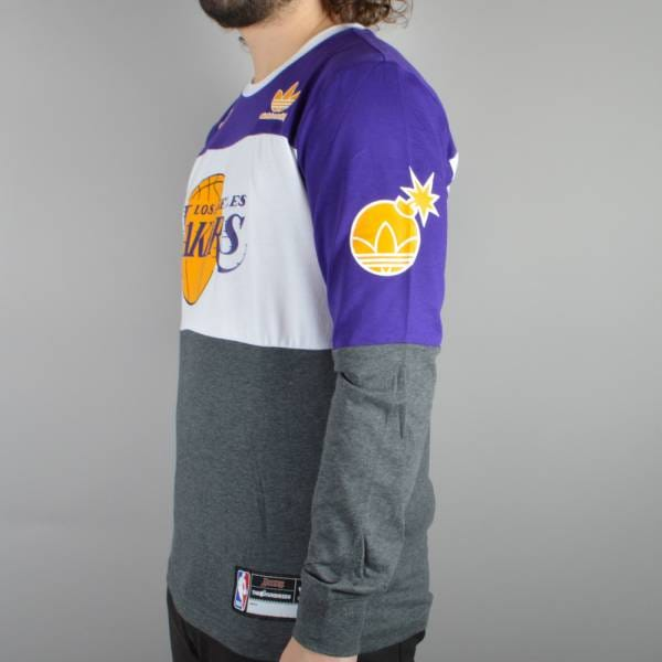 Adidas Skateboarding x The Hundreds NBA Lakers Long Sleeve T-Shirt ... 95e1da98c