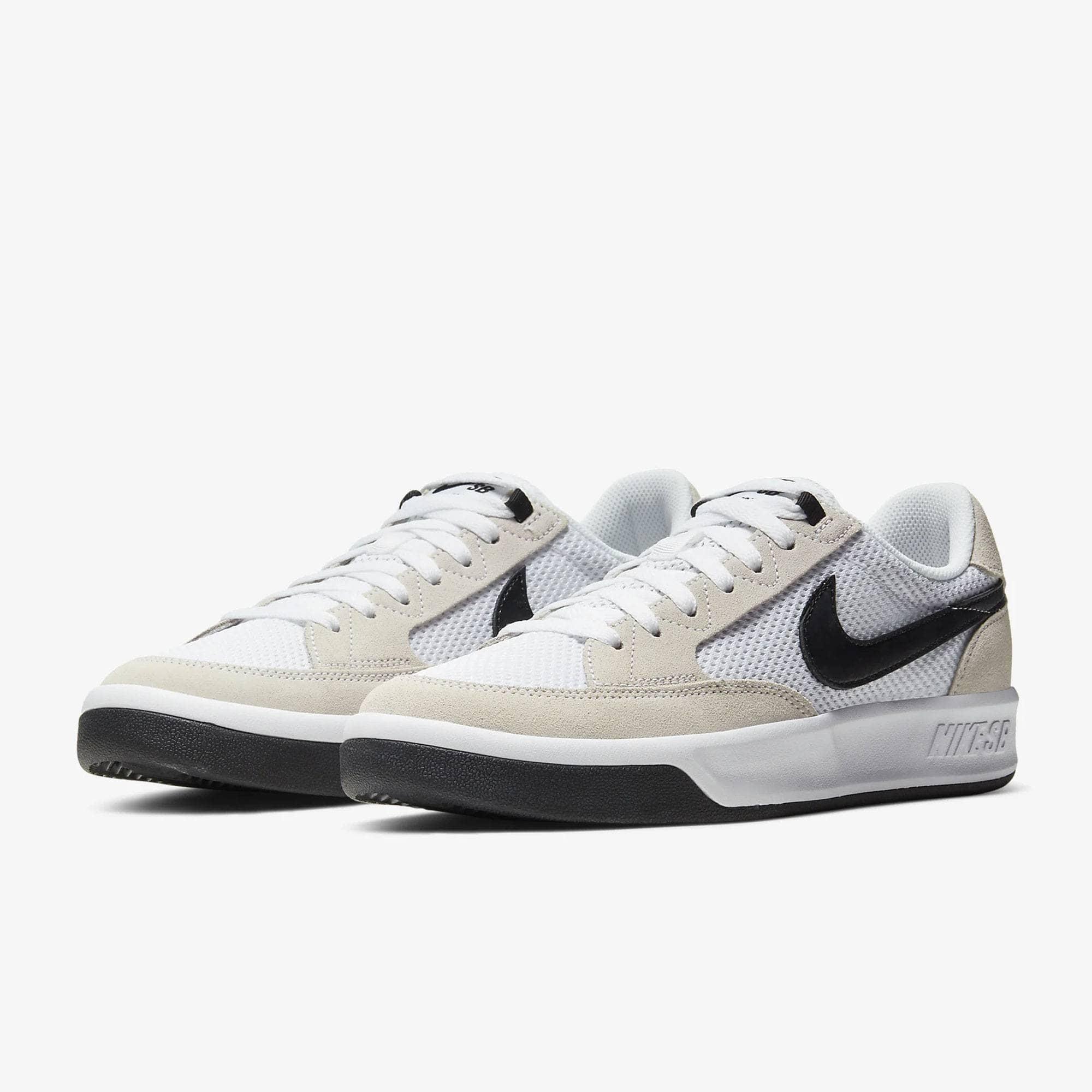 Nike SB Adversary Skate Shoes - White/Black-White