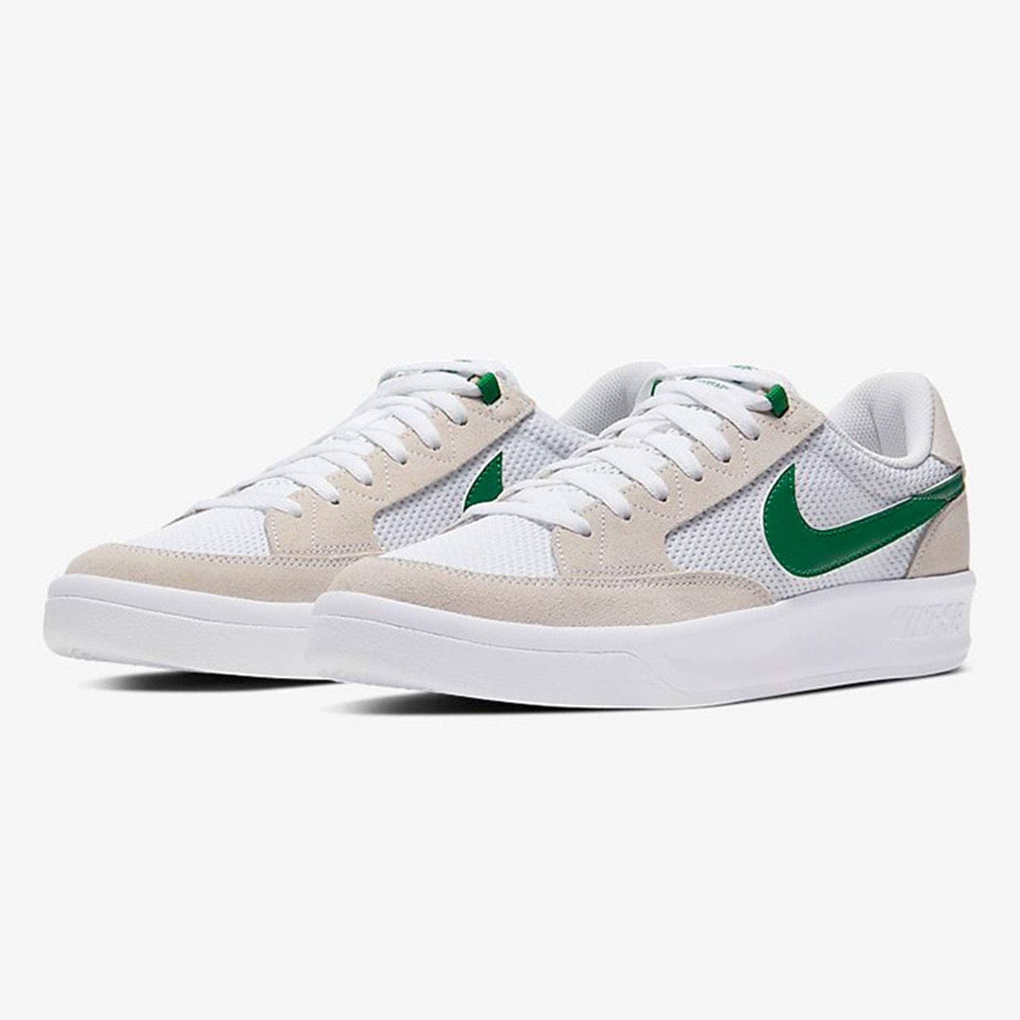 Nike SB Adversary Skate Shoes - White/Pine Green-White-White