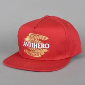 AHXR Embroidered Snapback Cap - Red