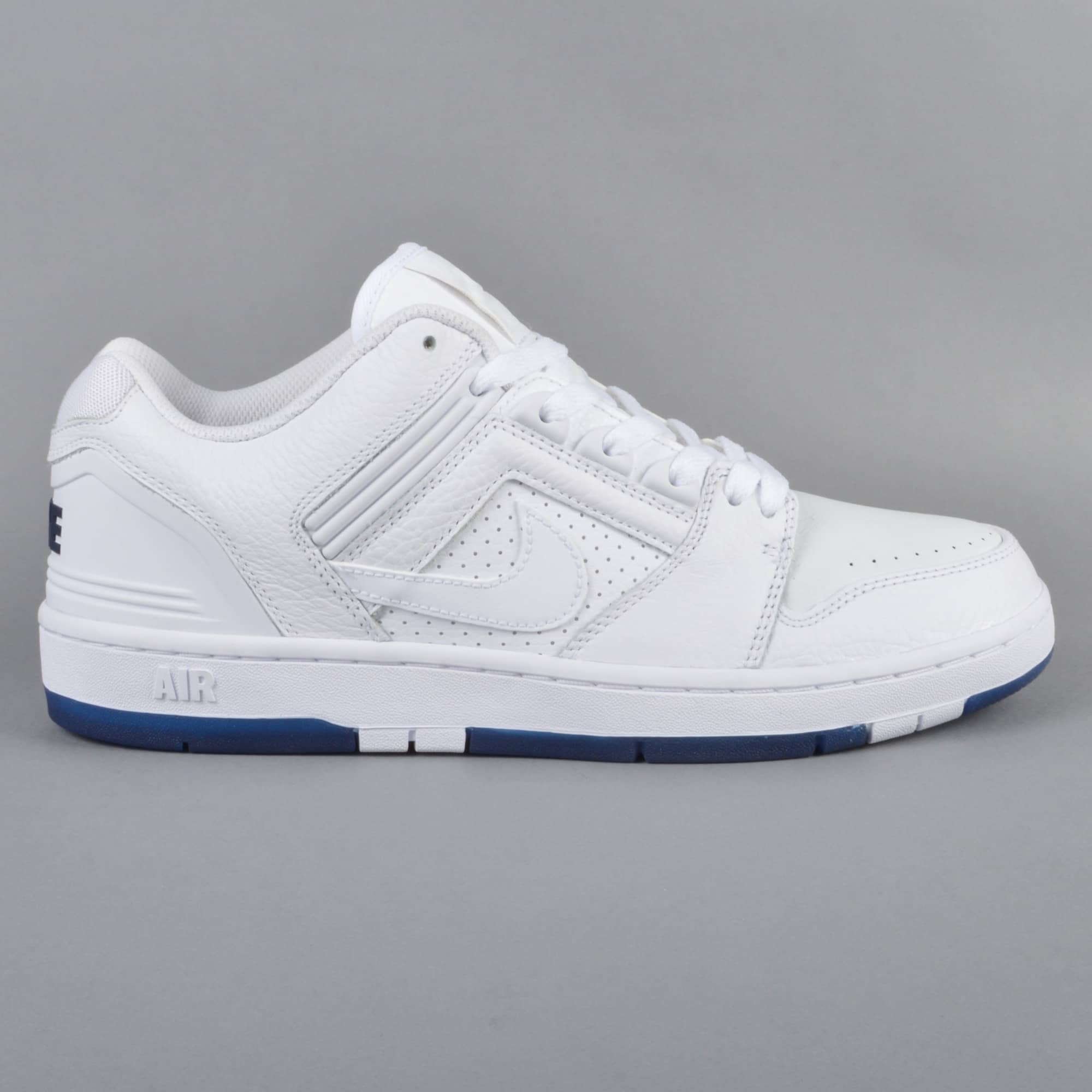Nike SB Air Force 2 Low QS Skate Shoes WhiteWhite Blue Void