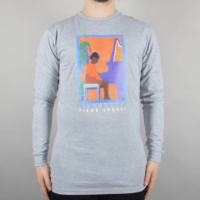 Skateboard Cafe Alice Longsleeve T-Shirt - Heather Grey