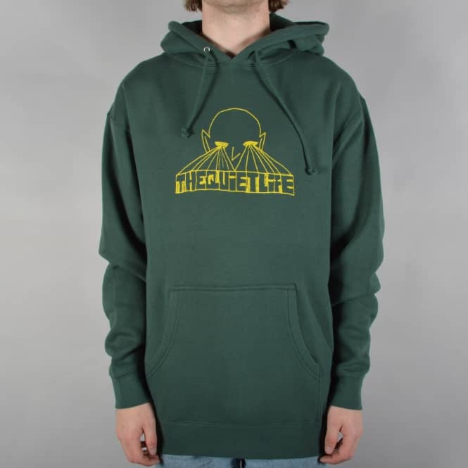 The Quiet Life Alien Eyes Pullover Hoodie - Alpine Green