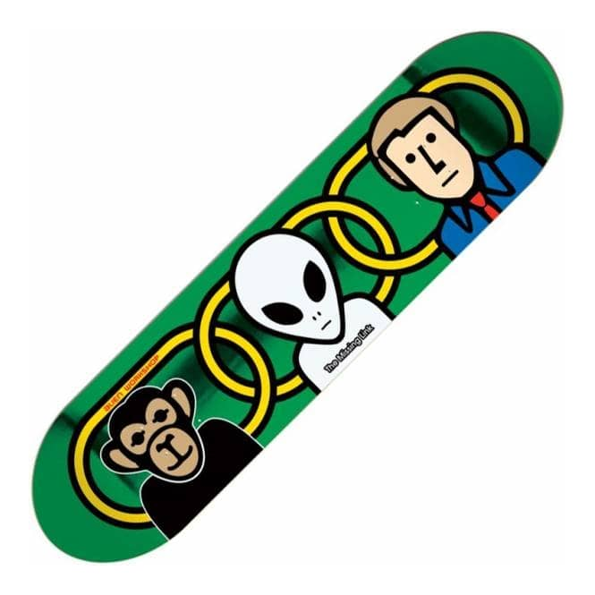 Alien Workshop Missing Link Foil Large Skateboard Deck 8.375