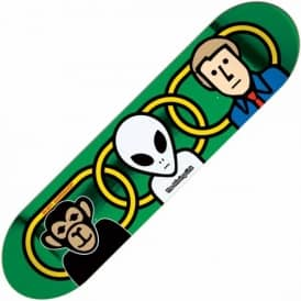 Alien Workshop Missing Link Foil Large Skateboard Deck 8.375""
