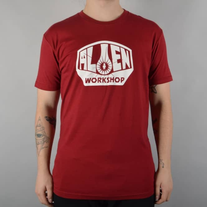 Alien Workshop OG Logo Skate T-Shirt - Red