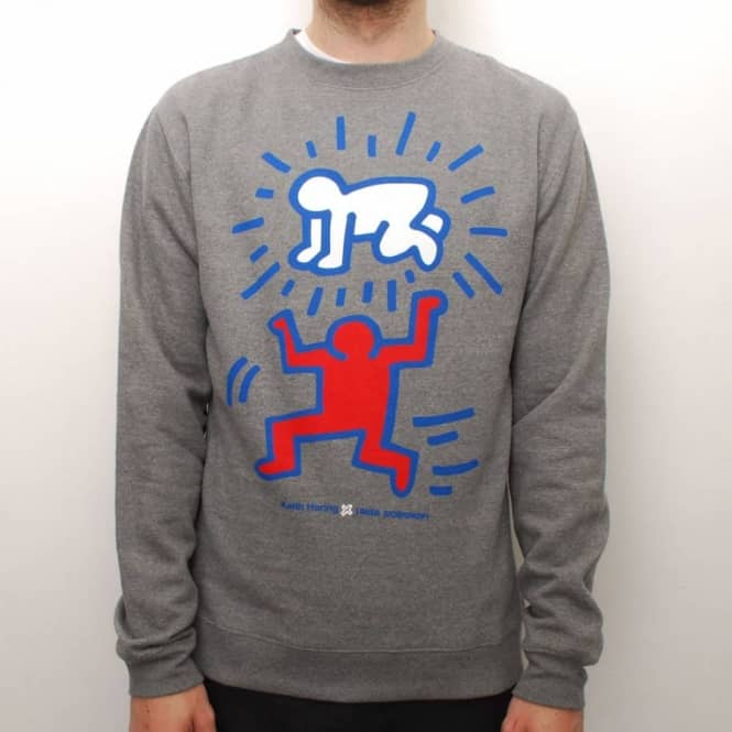 Alien Workshop Alien Workshop X Kieth Haring Elevated Baby Crew - Heather Grey