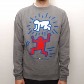 Alien Workshop X Kieth Haring Elevated Baby Crew - Heather Grey