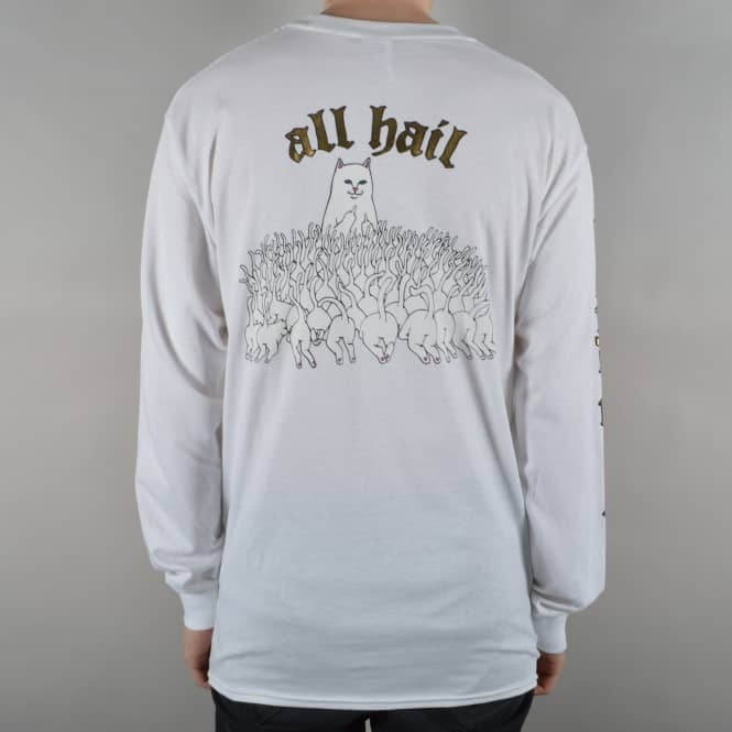 Rip N Dip All Hail Longsleeve T-Shirt - White