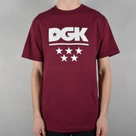 All Star Skate T-Shirt - Burgundy