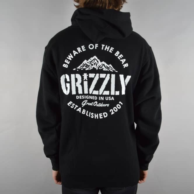Grizzly Griptape All Terrain Pullover Hoodie - Black