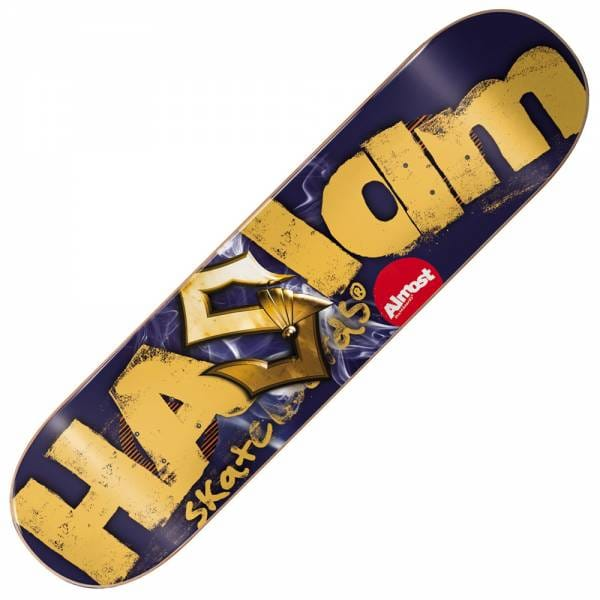 almost skateboards almost chris haslam logo cuts double