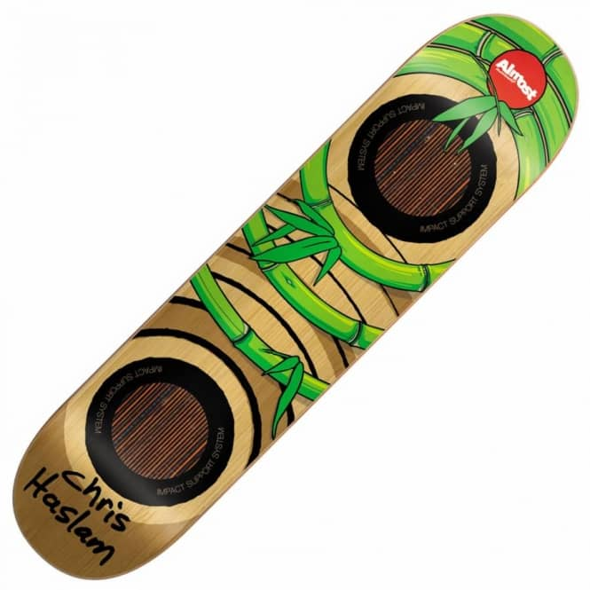 11da662168 Almost Skateboards Almost Chris Haslam OG Bamboo Impact Support Skateboard  Deck 8.25