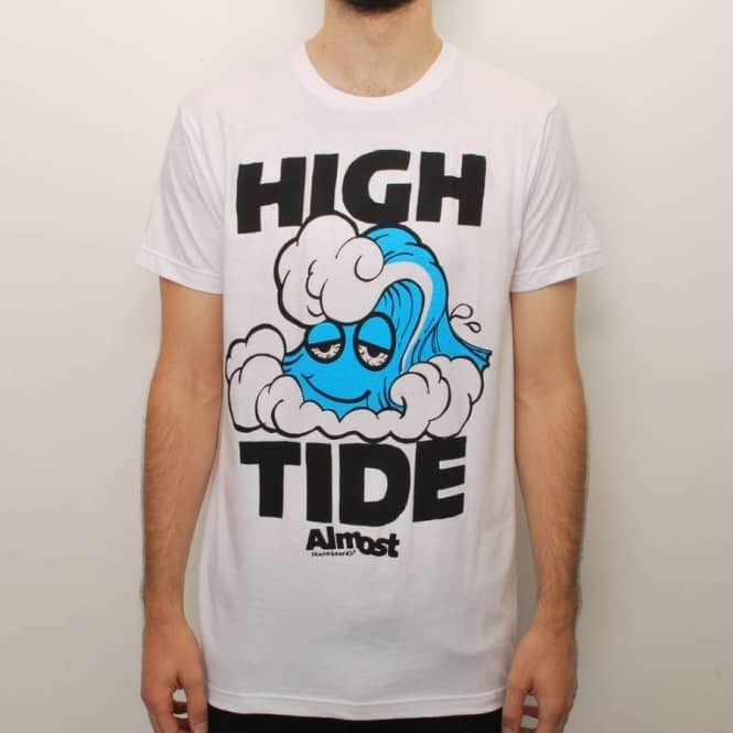 Almost Skateboards Almost High Tide 2.0 Slim Fit T-Shirt - White