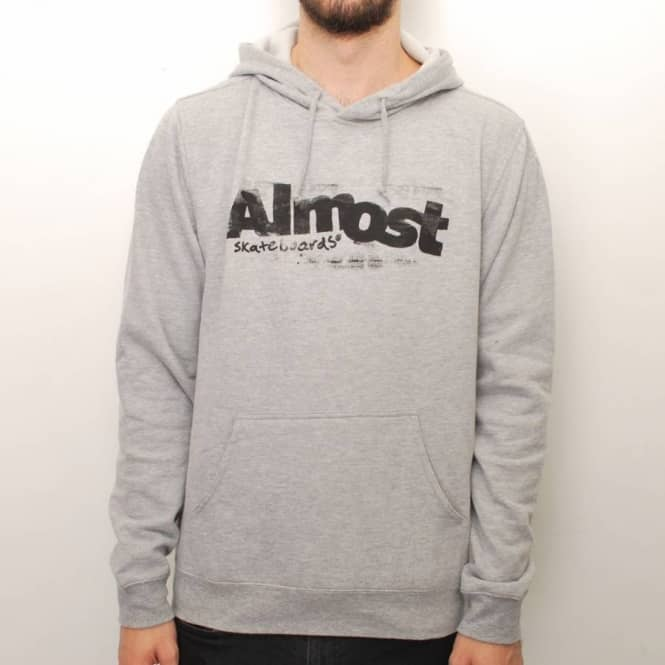 Almost Skateboards Almost Screen Works Pullover Hoodie - Athletic Heather Grey