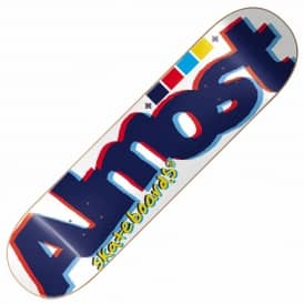 Almost Off Register White Skateboard Deck 8.5''