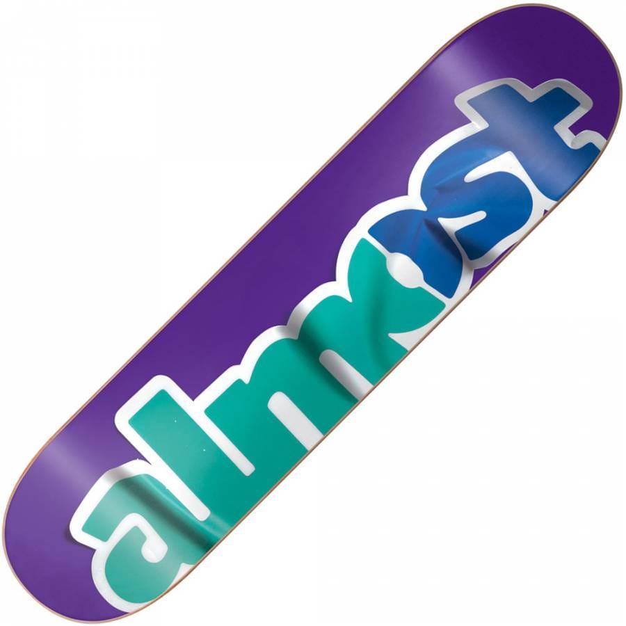 almost skateboards almost sticker logo skateboard deck 75