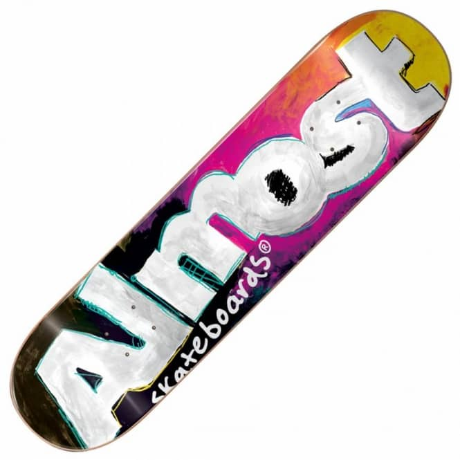 Almost Skateboards Art School Black Skateboard Deck 8.0''