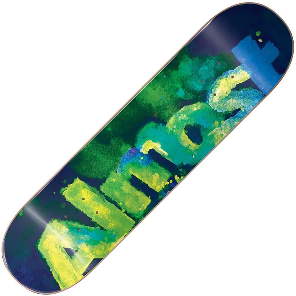 almost skateboards blotchy logo green skateboard deck 80