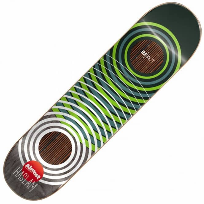 Almost Skateboards Chris Haslam OG Rings Impact Support Skateboard Deck 8.375