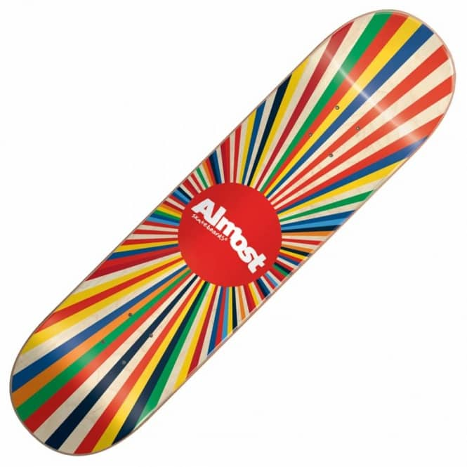 Almost Skateboards Colour Wheel 20/40 Skateboard Deck 7.5''