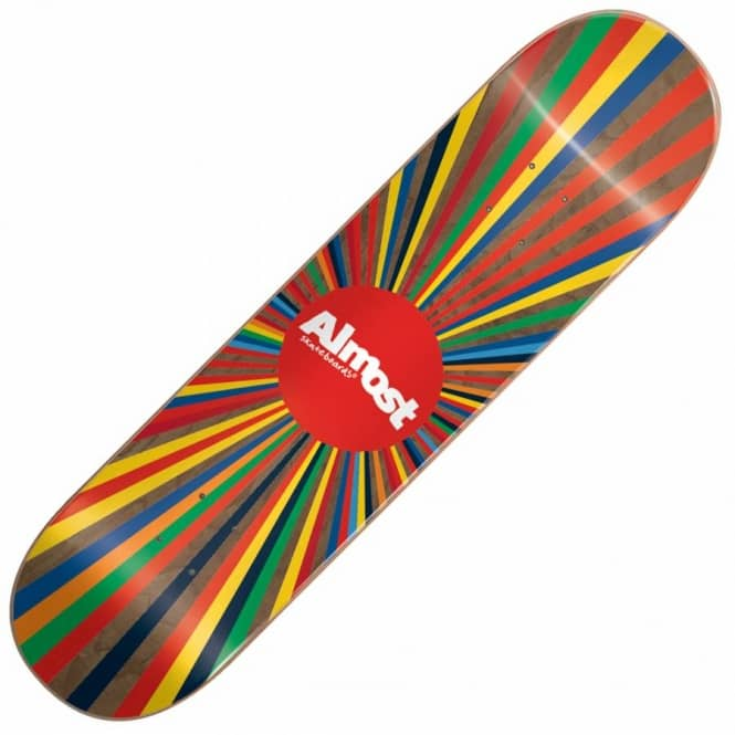 Almost Skateboards Colour Wheel 20/40 Skateboard Deck 8.0''