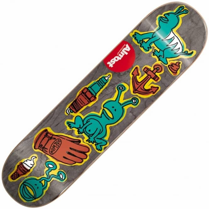 Almost Skateboards Daewon Song Dumb Doodle Skateboard Deck 7.75