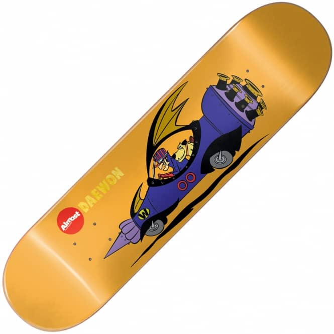 Almost Skateboards Daewon Wacky Races Impact Light Skateboard Deck 8.25