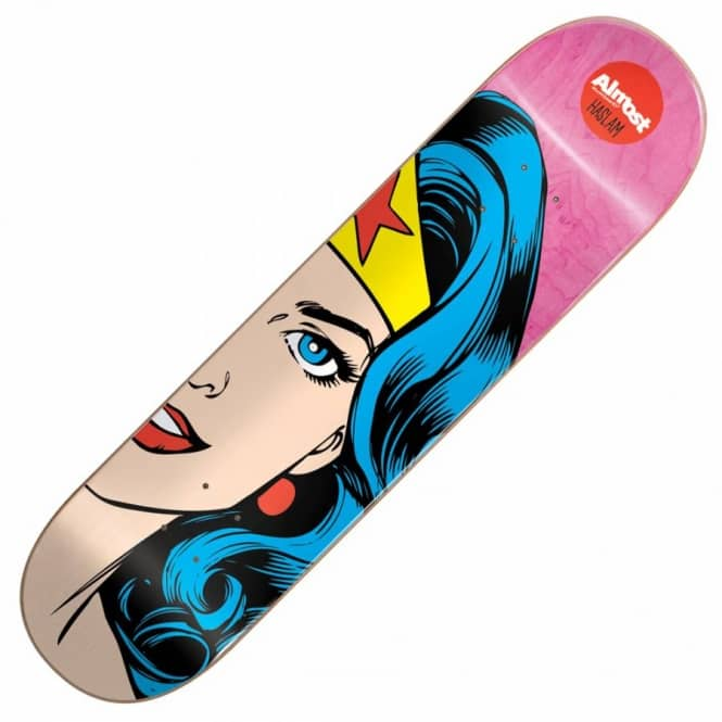 Almost Skateboards Haslam Superhero Splitface Skateboard Deck 8.375''