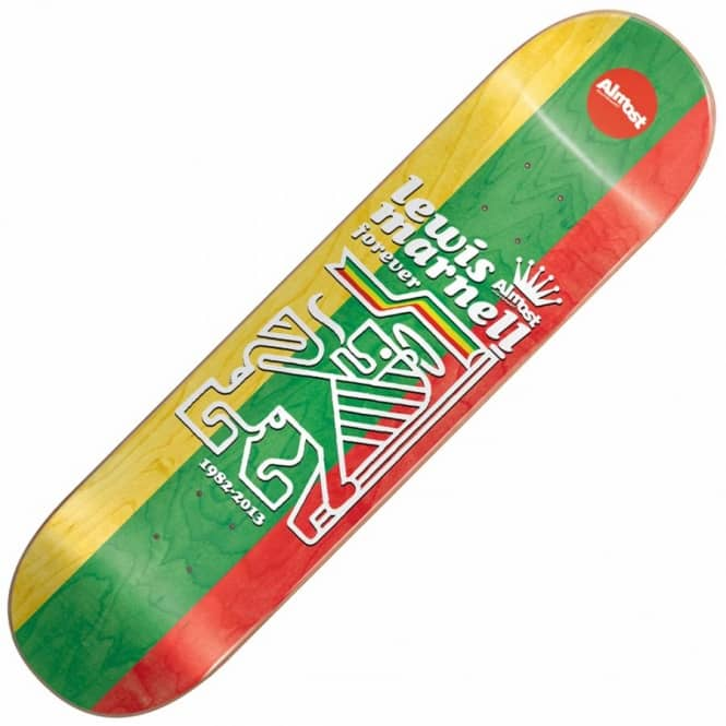 Almost Skateboards Lewis Marnell Tri-Rasta Skateboard Deck 8.0