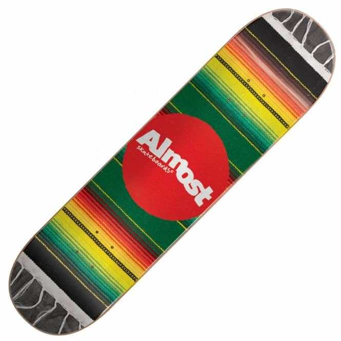 Almost Skateboards Mexican Blanket Rasta Skateboard Deck 8.0''