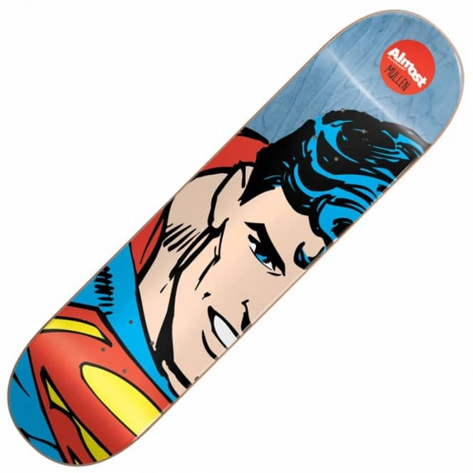 Almost Skateboards Mullen Superhero Splitface Skateboard Deck 8.125''