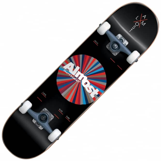 Almost Skateboards Noble Color Wheel Black Complete Skateboard 7.875