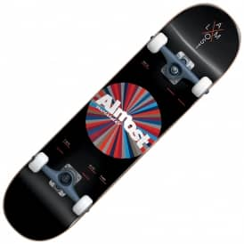 Almost Skateboards Noble Color Wheel Black Complete Skateboard 7.875""