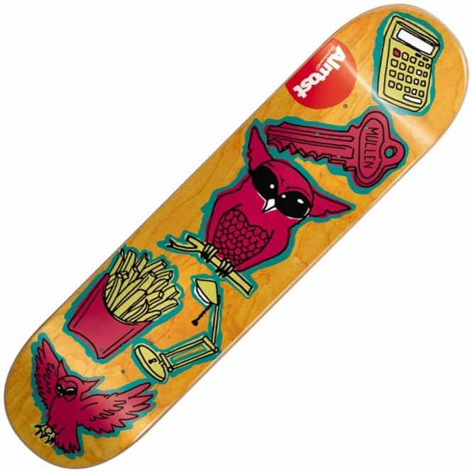 Almost Skateboards Rodney Mullen Dumb Doodle Skateboard Deck 8.0