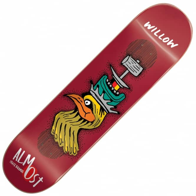 Almost Skateboards Willow Bird Shits Impact Plus Skateboard Deck 8.375