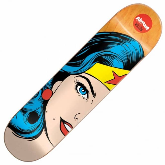 Almost Skateboards Willow Superhero Splitface Skateboard Deck 7.75''