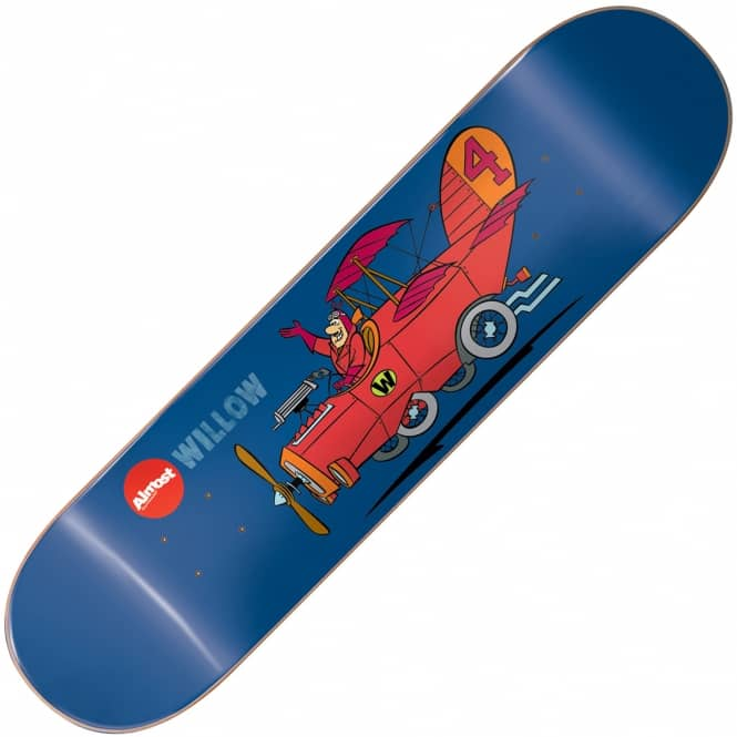 Almost Skateboards Willow Wacky Races Impact Light Skateboard Deck 8.0