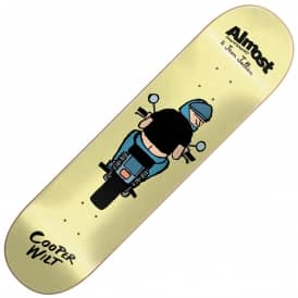 Almost Skateboards x Jean Jullien Cooper Wilt Skateboard Deck 8.0""